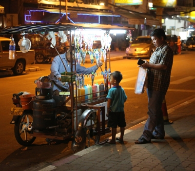 street stall vientiane small