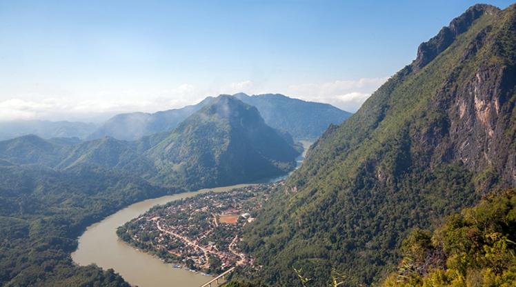 Landscape of Nong Khiaw, Laos